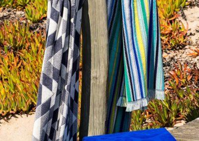 Jacquard multicoloured beach towels