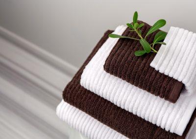 Bath set in single yarn