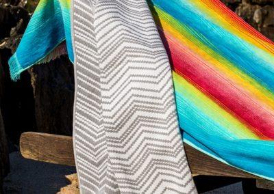 Rainbow and Chevron beach towels
