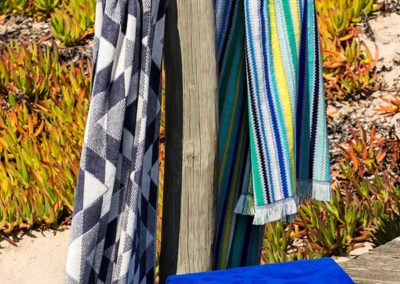 Jacquard multicoloured beach towels