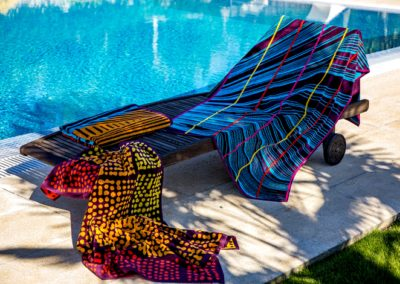 Jacquard beach towels
