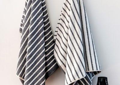 Jaspe lines towels, gray