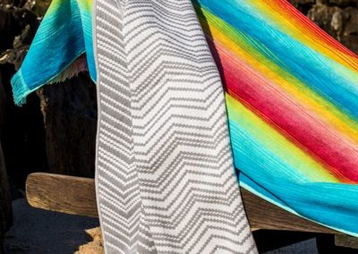 Rainbow and Chevron beach towels