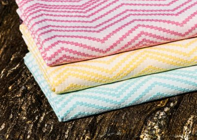 Chevron hammam towels, detail